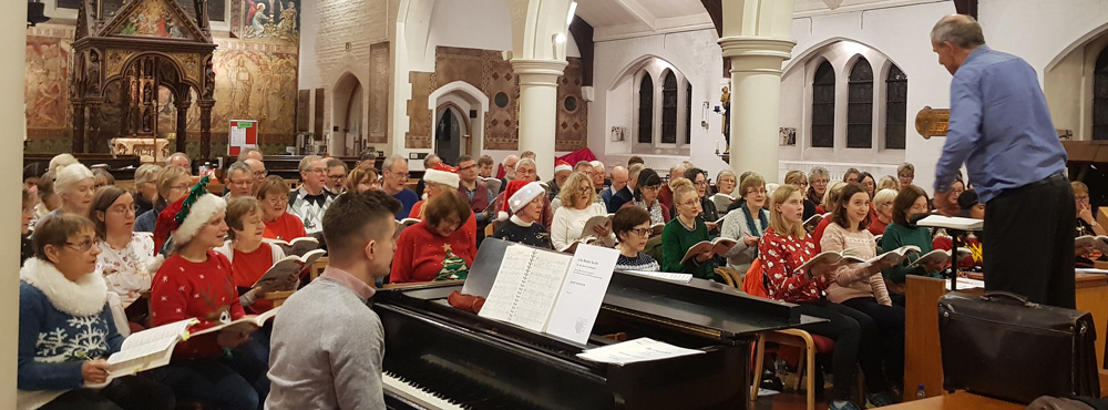 Rehearsing for our Festive Family Favourites concert 2019 (it was Christmas Jumper Day!)