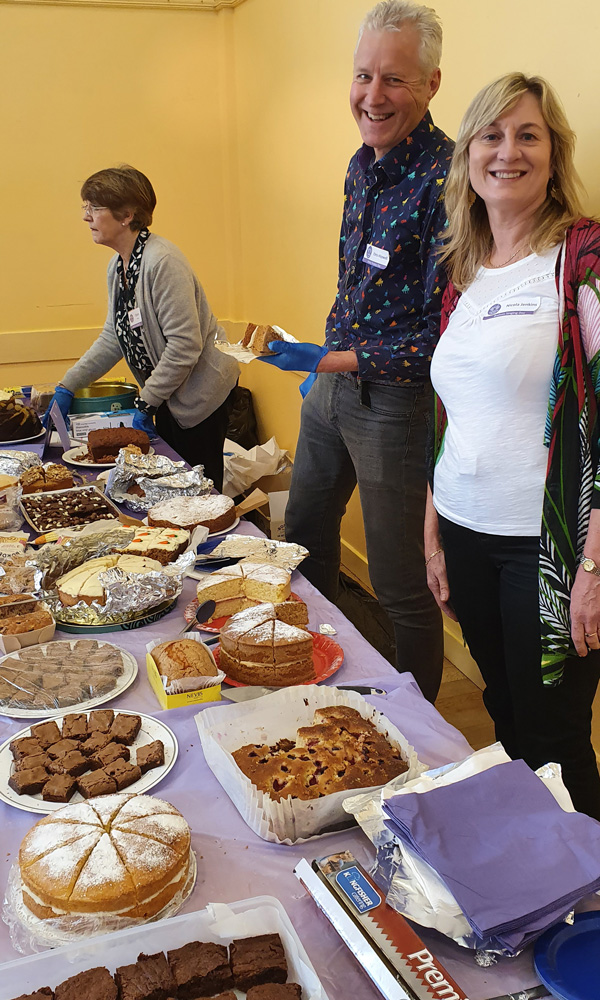 Raising funds for the choir at our recent Singing Day